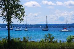 Summer at the Lake (Wonder Woman !) Tags: summer lakemichigan harborsprings michigan usa summertime sailboat