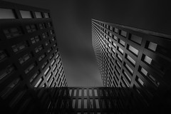Dreamscape (blondmao) Tags: fineart building bnw switzerland facade grosspetertower skyscraper noperson monochrome tower bw dark longexposure blackandwhite architecture basel