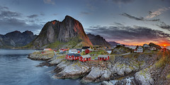 _DSC0468 Panorama2 copy Explored (kaioyang) Tags: sunrise lofotenislands norway norge sony a7r2 zeiss loxia loxia2821 redsunrising hamnoy