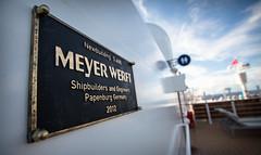 Meyer Werft (Scott Smith (SRisonS)) Tags: 2012 dcl deck13 disneycruise disneyfantasy easterncaribbean meyerwerft papenburggermany satellitefalls plaque shipbuilders