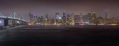 SF Skyline-Pano (Juan Pablo J.) Tags: california clouds cityscape canon24105mmf4l canon5dmkii city sanfrancisco treasureisland bayarea citylights