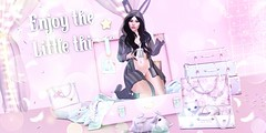 #56♔ (lLipsya) Tags: besom catwa maitreya reign moonrabbit insol littlefox insanya bubble llipsya cute kawaii pijama night pink bunny occult