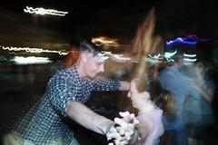 (Rock'n Roll All Nite) (Robbie McIntosh) Tags: leicam9p leica m9p rangefinder streetphotography 35mm leicam autaut candid strangers leicaelmarit28mmf28iii elmarit28mmf28iii elmarit 28mm man woman flash shutterdrag draggingtheshutter slowflash trails night longexposure dance