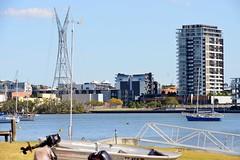 800_5443 (Lox Pix) Tags: queensland qld australia architecture crane catamaran river rivercat boat brisbane bird bridge building brisbaneriver boats ship yacht loxpix landscape rivertraffic