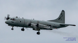 P-3C Orion on Final to Ault
