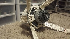 SHIPtember Day #11 (Ty S.) Tags: shiptember ship white grey bley greeble round circle engine thruster scifi cool lego moc space wip