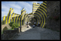 Time tunnel (One Eye Coombs) Tags: carcassonne france art unesco circles castle layers multishot