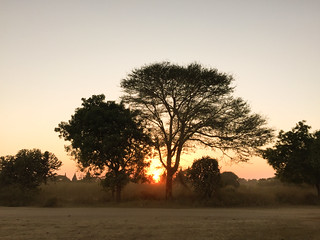 Sunset scenery of Bagan, Myanmar
