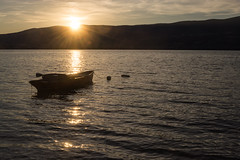 Sunset (bertrandwaridel) Tags: 2018 august lacdeneuchâtel switzerland vaud yvonand lake rowingboat summer sunset sunsetlight water suisse