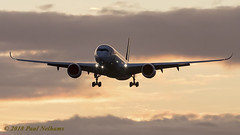 BLRU A350 Cathay Pacific (Anhedral) Tags: dublinairport aircraft airliner airplane sunrise arrival landing blru airbusindustrie a350 a350900 cathaypacific