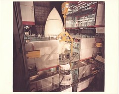 STS01_v_c_o_TPMBK (unnumbered, VAB mating) (apollo_4ever) Tags: rockwellinternational spacecraft cavernous latticework boeingcrane overheadcrane highbay3 bobcrippen robertcrippen johnyoung johnwyoung glider hrsi hightemperaturereusablesurfaceinsulation tpstiles thermalprotectionsystemtiles rcsthrusters reactioncontrolsystemthrusters rcc reinforcedcarboncarbon sts1 hoistingsling humanspaceflight mannedspacecraft mannedspaceflight nasa nasafacility nasarocket nasaspacecraft reusablespacecraft vab vehicleassemblybuilding srb solidrocketboosters externaltank spaceshuttlecolumbia ov102 orbitalvehicle spacetransportationsystem shuttleprogram spaceshuttle thespaceshuttle theshuttle