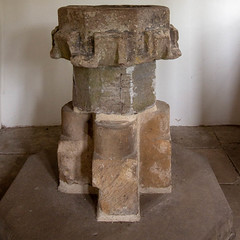 The stone font (Carol Spurway) Tags: pockerleyoldhall museum workingmuseum 1820s countydurham openairmuseum beamish stanley livingmuseum