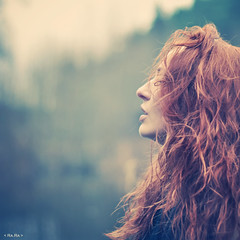 Wisper (RaRa photo) Tags: soulfull portrait redhair ginger bokeh emotive artistic creative dramatic fog autumn face longhair forest dark deep nikond90 nikkor50mmf14g 50mm 500x500 lady women dof rasaragelskienephoto raraphoto lithuaniaphotography