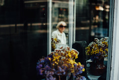 Onlooker (ewitsoe) Tags: 35mm city europe ewitsoe nikond80 street warszawa erikwitsoe poland summer urban warsaw oldlady mirror reflection reflect windowdisplay display flowers feelings travel toruism