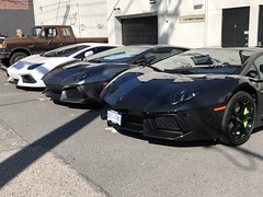 Aventador Line up (prancinghorserus) Tags: vancouver lamborghini aventador luxury super exotic car rare huracan performance limited edition spyder
