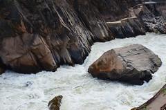 Tiger Leaping Gorge - China Road Trip 2017 - 29 (hapsnaps) Tags: hapsnaps 2017 winter china yunnanprovince naxiautonomouscounty tigerleapinggorge thegreatesthikeididntdo jinshariver river rocks precipice water roadbuilding