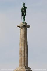 The Victor (srkirad) Tags: monument architecture sky travel belgrade beograd serbia srbija kalemegdan victor pobednik statue huge big tall sunny summer column landmark symbol