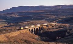 HST Crossing Lunds Viaduct. 26/11/1988. (briandean2) Tags: hst lundsviaduct garsdale settlecarlislerailway railways ukrailways