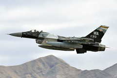 87-0313 (Rich Snyder--Jetarazzi Photography) Tags: usairforce usaf airforce aircombatcommand acc generaldynamics f16 f16c fightingfalcon 870313 64thagrs 57thatg wa takeoff departure departing nellisafb lsv klsv lasvegas nevada nv airplane aircraft jet plane fighter aggressor viper redflag181