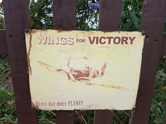 Wings for Victory sign (DorsetBelle) Tags: wingsforvictory signs wartime wartimesigns eppingongarrailway railwaystations essex vitreousenamelsigns enamelsigns