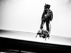 The Iron man (stumacher55) Tags: eos canon athlete surreal extreme technical abnormal blackwhite portrait flight