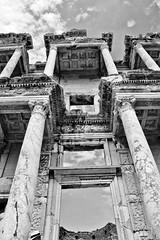 Library of Celsus (WarEagle8608) Tags: kuşadası turkey kuşadasıturkey selcuk izmir province izmirprovince bw black white blackandwhite library celsus libraryofcelsus ephesus ephesusturkey ephesusgreece greece ancientgreece canon eos rebel t2i kiss x4 550d summer vacation travel canoneosrebelt2i canoneos550d canoneoskissx4 eos550d eosrebelt2i eoskissx4 rebelt2i pse photoshopelements adobephotoshopelements