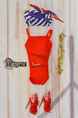 These and many more other fashions in ELENPRIV Etsy store! (elenpriv) Tags: elenpriv elena peredreeva handmade clothes dollclothes swimsuit scarf red seacruise collection