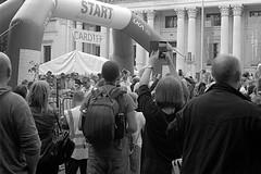 Cardiff 10K (The Unfortunate Whale) Tags: film filmphotography kentmere kentmere400 kodak kodakxtol xtol xtol11 street streetphotography southwales cardiff race 10k blackandwhite blackandwhitefilm negativefilm scan epsonv550 epson olympus om om1n olympuszuiko olympusom zuiko zuiko50mm zuiko50mmf14 zuiko50mmf14mc yellowfilter grain 50mm 50mmf14
