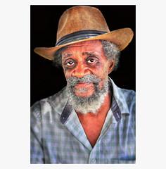 Gary .... (daystar297) Tags: streetportrait portrait black africanamerican man beard hat nikon artist singer performer blues jazz classic southflorida fortpierce nikond90