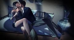 #218 kiss.... (ЙёКσ) Tags: sl secondlife slbloggr couple love fashion style secretposes thedarknessmonthlyevent doux nomatch lenox gabriel baiastice blueberry catwa signature letreskinshop maitreya