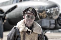 33 MISSIONS! (mark_rutley) Tags: flyinglegends airshow pilots raf airforce military reenactment reenactors thefew worldwar2 iwmduxford mono blackandwhite b21g memphisbelle sallyb