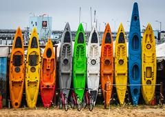 Kayaks 04 (CDay DaytimeStudios w/1,000,000 views) Tags: beach bicycle boats ca california clouds coastline halfmoonbayca highway1 kayaks morningovercast ocean pacificcoast pacificcoasthighway pillarpoint pillarpointharbor water wharf yachts