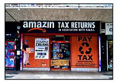 STREET ART by SUBVERTISER (StockCarPete) Tags: subvertiser shopfront amazon streetart londonstreetart cronx croydon croydonrising tax taxavoiders