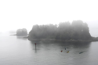 Kayaks In The Mist