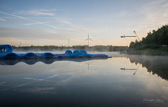Reflections (christophecalsius) Tags: maasmechelen terhills cable park dawn daybreak sunrise water waterscape landscape lake clouds fog