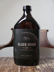 Black Moon Gin (knightbefore_99) Tags: bottle booze drink table wood tasty black moon gin legend distilling naramata bc canada awesome best nice great