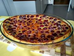 Clafoutis aux cerises (aniko e) Tags: food baking clafoutis cherries clafoutisauxcerises