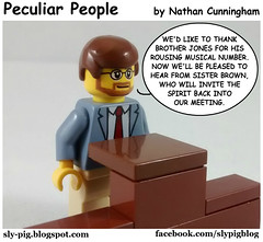 Peculiar People 14 (Nathan C. Cunningham) Tags: lego legocomic webcomic comics peculiarpeople humor religion mormon lds latterdaysaint christian church faith