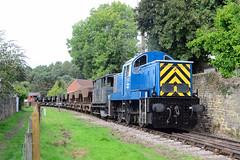 D9521. (curly42) Tags: d9521 class14 preservedhydraulicloco dfr railway transport freight dfrdieselgala2018 deanforestrailway