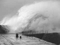 Storm Ali (www.peterhenryphotography.com) Tags: water sea waves harbour coast stormali