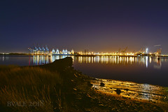 Bayonne 3 LR (gword) Tags: bayonne newjersey newarkbay night containerships portnewark
