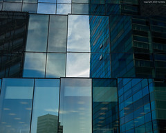 framed reflection (Furcletta) Tags: architecture building facade city clouds colours black blue grey white handheld lense 45mm28p material aluminium glass modernarchitecture mural nikond800 outdoor places europe spain barcelona sky shadow urban mirror reflection esp catalunia