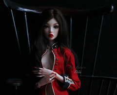 Suspended time (pure_embers) Tags: pure embers bjd fashion doll dolls uk tender creation yuito girl aria pureembers embersaria photography photo ball joint resin faceup portrait alpaca wig dark military red