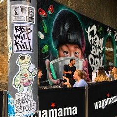 Wagamama (Question Josh? - SB/DSK) Tags: sticker stickers sticks slaps streetart london
