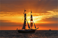Hanse Sail 2018 (Sandra OTR) Tags: rostock warnemünde warnemuende hansesail hanse sail event baltic balticsea sailing boats sunset clouds weather germany