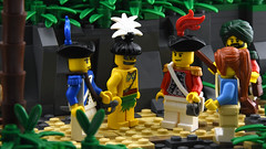 Native Pearling Village - Meeting the Headman (Ayrlego) Tags: lego islander brethrenofthebrickseas bobs corrington îledor oleon