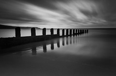 Reflections #Two (Fine Art Long Exposure Black & White Photography) Tags: fineart longexposure blackandwhite monochrome water sea seascape nature reflections sands dramaticskies tides barmouth northwales unitedkingdom