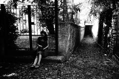 Sit and wait (stefankamert) Tags: sit wait woman noir noiretblanc blackandwhite blackwhite mood stefankamert zeiss sony rx1 rx1r fullframe mirrorless bw baw