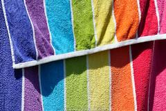 Day #3871 (cazphoto.co.uk) Tags: colours drying rainbow shadaows stripes texture towel washing washingline abstract colour project365 beyond3653 060818 panasonic lumix dmcgx8 panasonic100300mmf4056lumixgvariopowerois