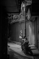 parked (charlesgyoung) Tags: night nikon nikonphotography nikondx delhi d500 india olddelhi rajasthan charlesyoung karineaignerphotographyexpedition streetphotography blackandwhite